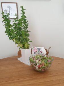 Jedzenie zwłasnego ogródka